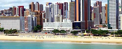 vista aerea do Oasis Atlantico Hotel Praia de Meireles