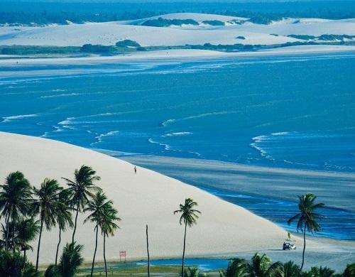 Vista Aérea de Jericoacoara, Ceará