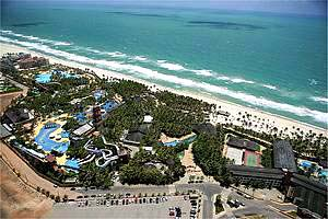 fortaleza beach park vista aerial