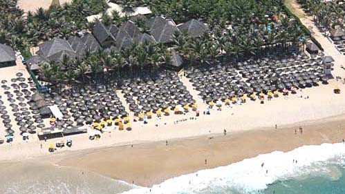 aerial view of Praia do Futuro