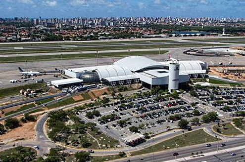 fortaleza airport aerial view