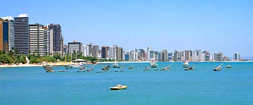 View of the Beira Mar in Fortaleza