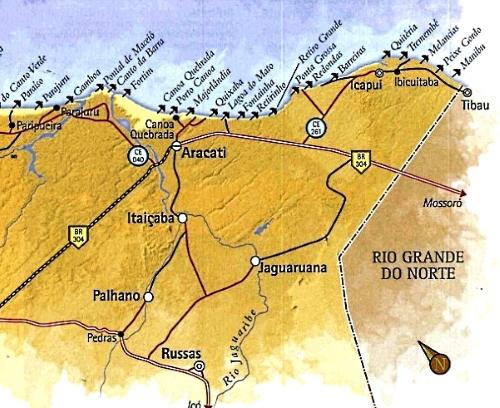 Praias do Litoral Leste do Ceará