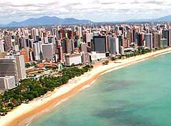 aerial view of the beira mar fortaleza