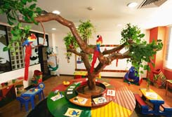 Photo of inside the Vila Gale Hotel kid center