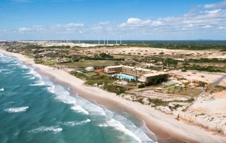 Aireal view of Hotel Coliseum Praia das Fontes