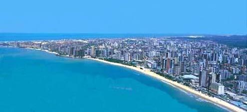 Aerial view of Meireles Beach and Mucuripe Beach
