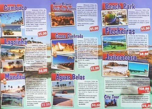 Fortaleza day trips destinations and rates