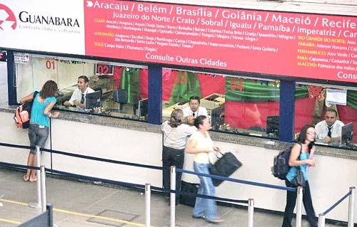 Inside Fortaleza Bus Terminal