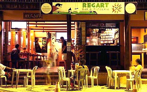 regart bar pizza canoa quebrada broadway